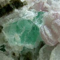 Fluorite With Lepidolite Elbaite & Cleavelandite