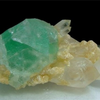 Fluorite With Quartz & Mica