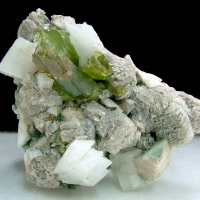 Titanite With Adularia & Calcite