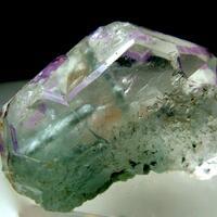 Fluorite With Indicolite Inclusions