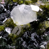 Calcite With Epidote Clinochlore & Andradite