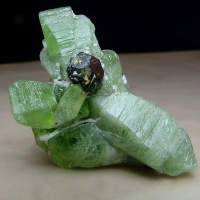 Peridot With Magnetite