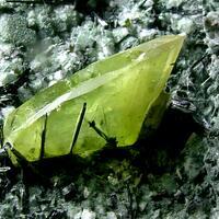 Titanite With Actinolite