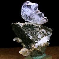 Faden Quartz With Calcite