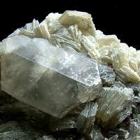 Herderite With Hematite & Muscovite