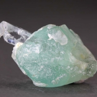 Aquamarine With Fluorite