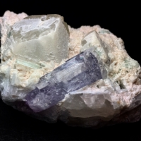 Kunzite With Elbaite & Quartz