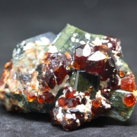 Spessartine With Diopside