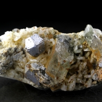 Anatase With Quartz & Albite