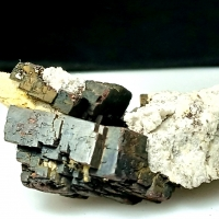 Apatite With Tourmaline & Siderite