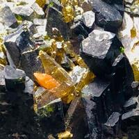 Hedenbergite With Titanite & Epidote