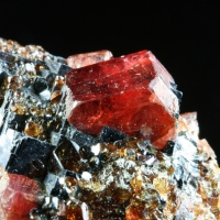 Rhodonite & Spessartine On Galena