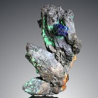 Azurite & Malachite Psm Goethite Psm Calcite