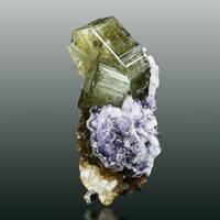 Apatite On Fluorite Muscovite & Quartz