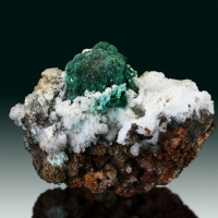 Malachite Psm Cuprite On Aragonite