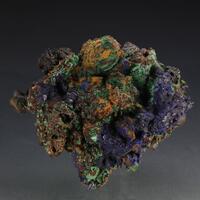 Azurite On Limonite Psm Gypsum Psm Calcite