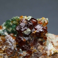 Hessonite With Clinochlore