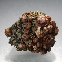 Andradite On Hedenbergite With Quartz