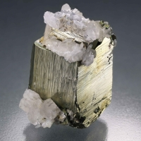 Pyrite With Calcite & Calcite
