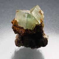 Fluorite With Goethite