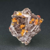 Baryte With Orpiment & Realgar