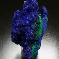 Azurite On Conichalcite