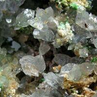 Conichalcite & Adamite On Calcite