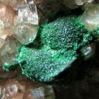 Malachite On Manganoan Calcite