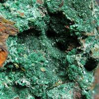 Malachite With Conichalcite & Azurite On Limonite