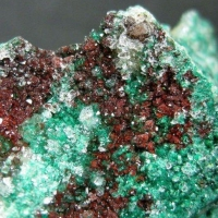Pseudomalachite In Quartz With Hematite