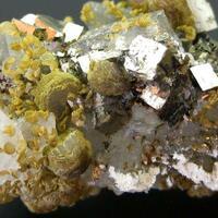 Pyrite Siderite Wolframite Sphalerite & Quartz