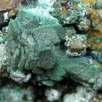 Aurichalcite On Malachite Psm Azurite