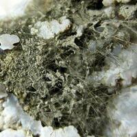 Millerite & Chalcopyrite In Chalcedony
