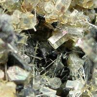 Nepheline With Magnetite Hematite & Fluorapatite