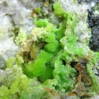 Pyromorphite & Cerussite On Quartz