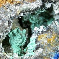 Rosasite Linarite Cerussite & Pyrite