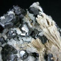 Tetrahedrite Galena Quartz & Calcite Psm Aragonite