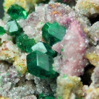 Dioptase With Duftite & Calcite