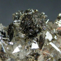 Goethite Var Goethite On Smoky Quartz