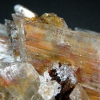 Gypsum With Limonite & Azurite