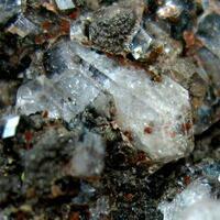 Harmotome On Quartz & Hematite