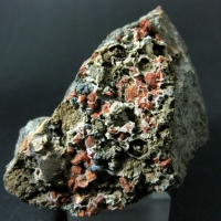 Heulandite-Ca With Celadonite & Chalcedony