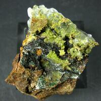 Hydrohonessite Gillardite & Glaukosphaerite On Gypsum
