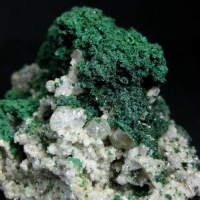 Malachite With Cerussite & Conichalcite On Dolomite