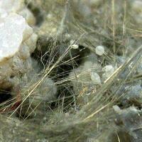 Millerite On Chalcedony