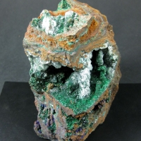 Malachite Olivenite Azurite & Gypsum