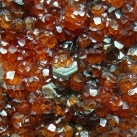 Spessartine With Smoky Quartz Fluorite & Clinochlore