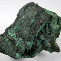 Chalcocite & Malachite Psm Fossil Wood
