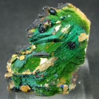 Clinoclase With Cornwallite & Malachite