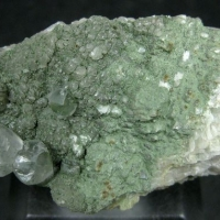 Pumpellyite On Calcite
